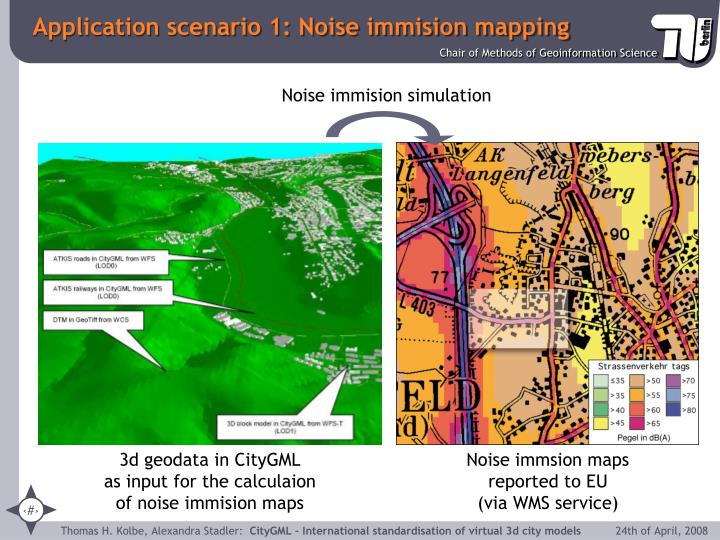 Application scenario 1: Noise immision mapping