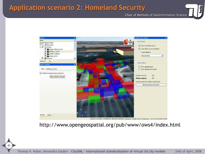 Application scenario 2: Homeland Security