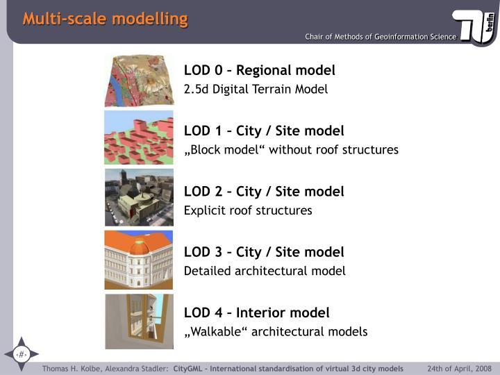 LOD 0 – Regional model