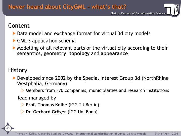 Never heard about CityGML – what's that?