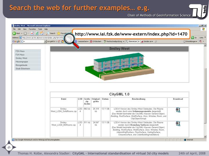 Search the web for further examples… e.g.