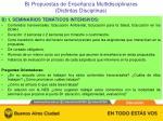 b propuestas de ense anza multidisciplinares distintas disciplinas