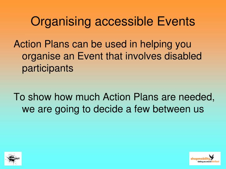 Organising accessible Events