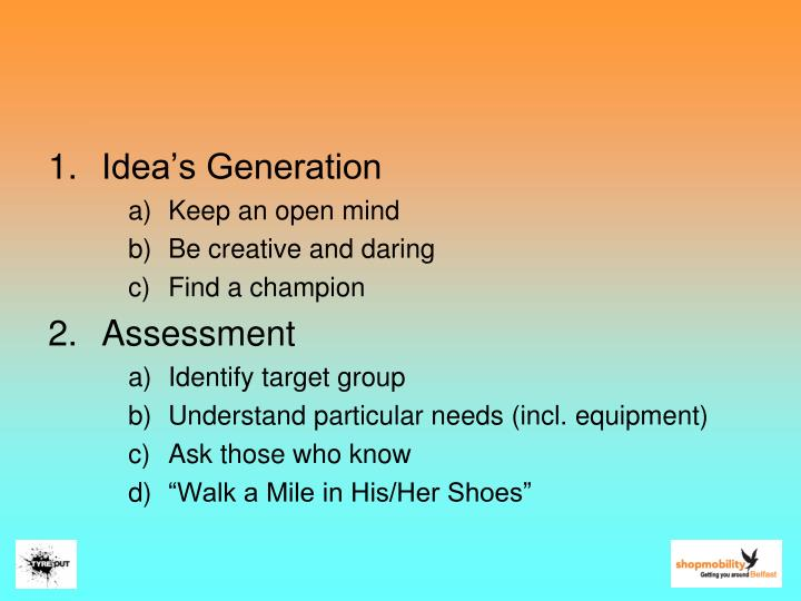 Idea's Generation