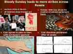 bloody sunday leads to more strikes across russia