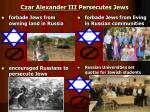 czar alexander iii persecutes jews