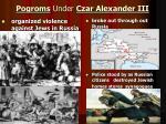 pogroms under czar alexander iii