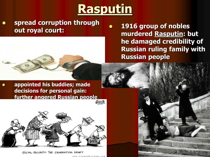 spread corruption through out royal court:
