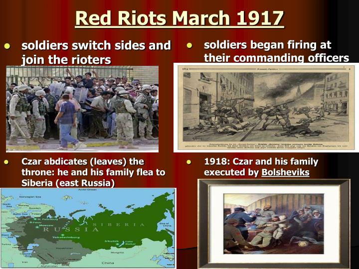 Red Riots March 1917