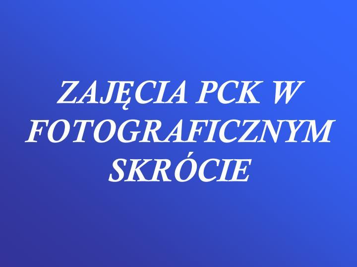 ZAJĘCIA PCK W FOTOGRAFICZNYM SKRÓCIE