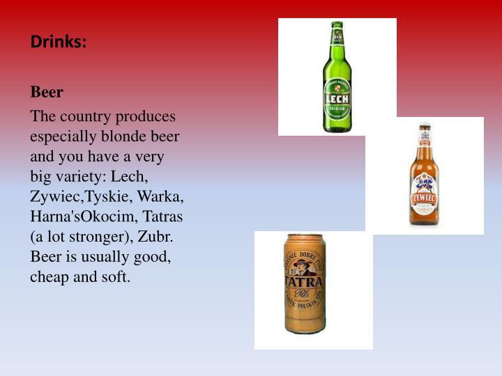 Drinks: