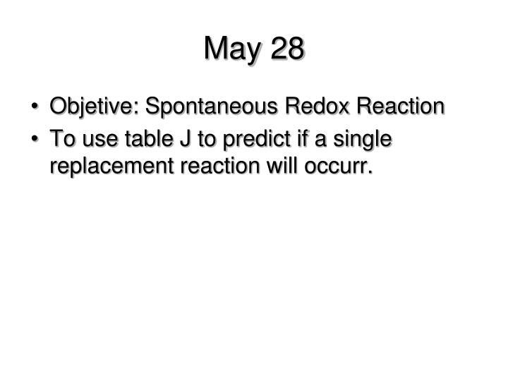 May 28