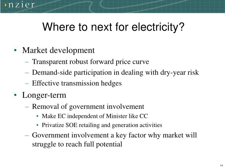 Where to next for electricity?