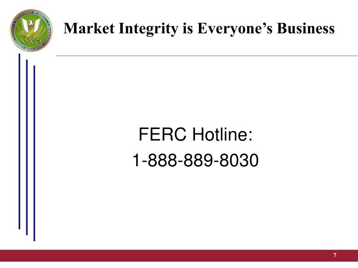 Market Integrity is Everyone's Business