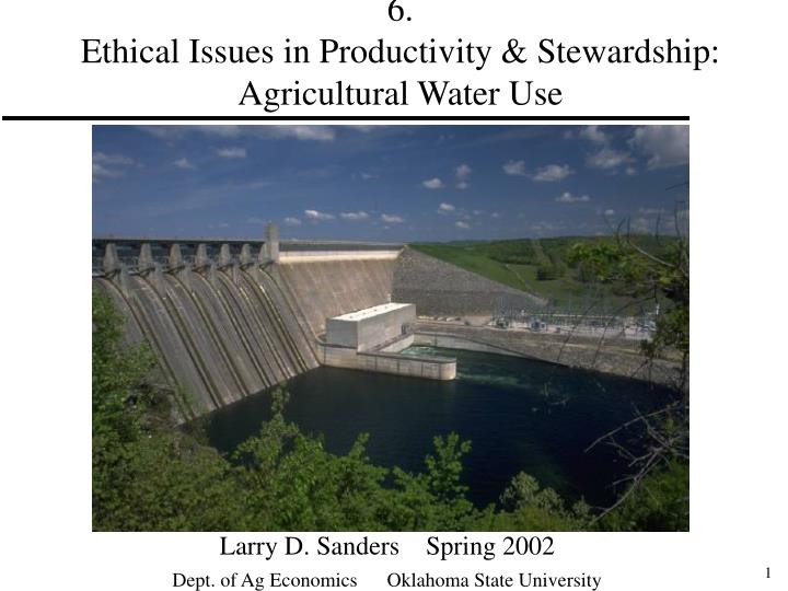 6 ethical issues in productivity stewardship agricultural water use
