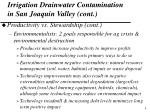 irrigation drainwater contamination in san joaquin valley cont4