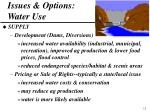 issues options water use
