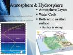 atmosphere hydrosphere