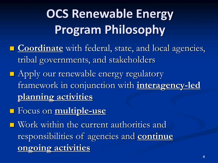 OCS Renewable Energy