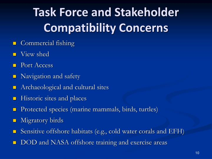 Task Force and Stakeholder