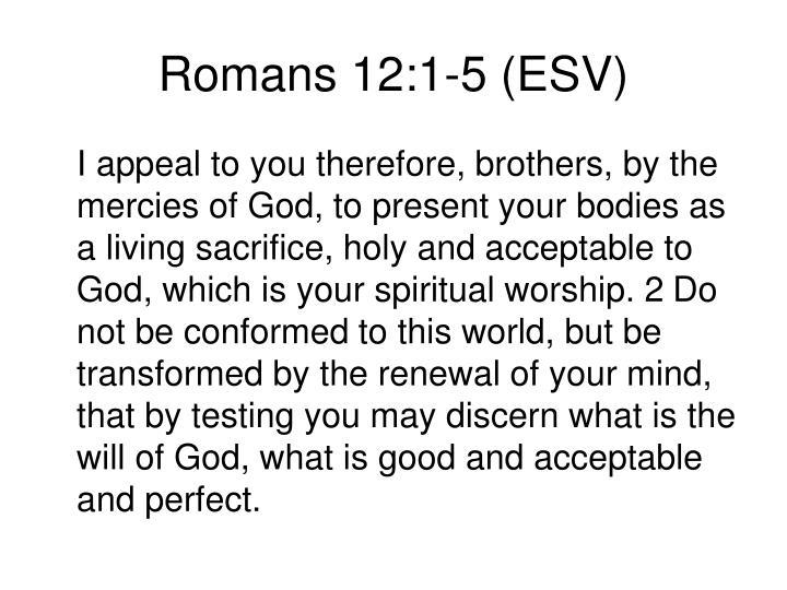 Romans 12:1-5 (ESV)