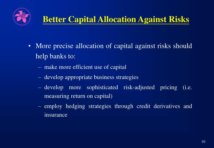 Better Capital Allocation Against Risks