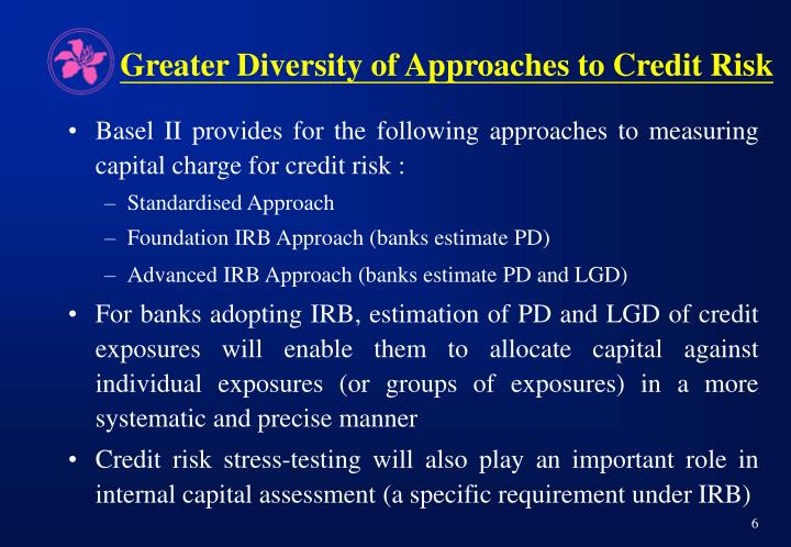 Greater Diversity of Approaches to Credit Risk