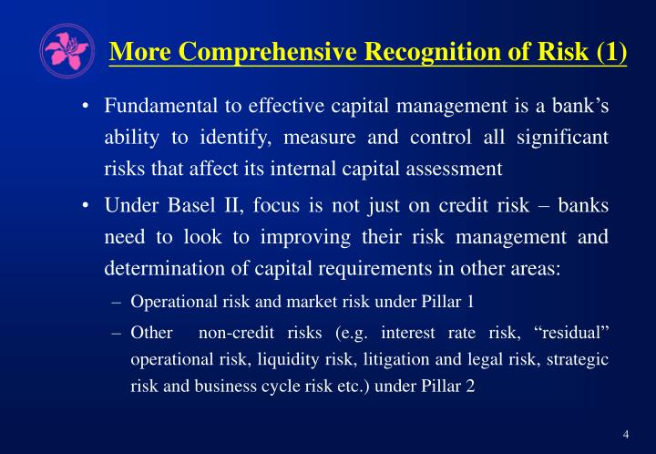 More Comprehensive Recognition of Risk (1)