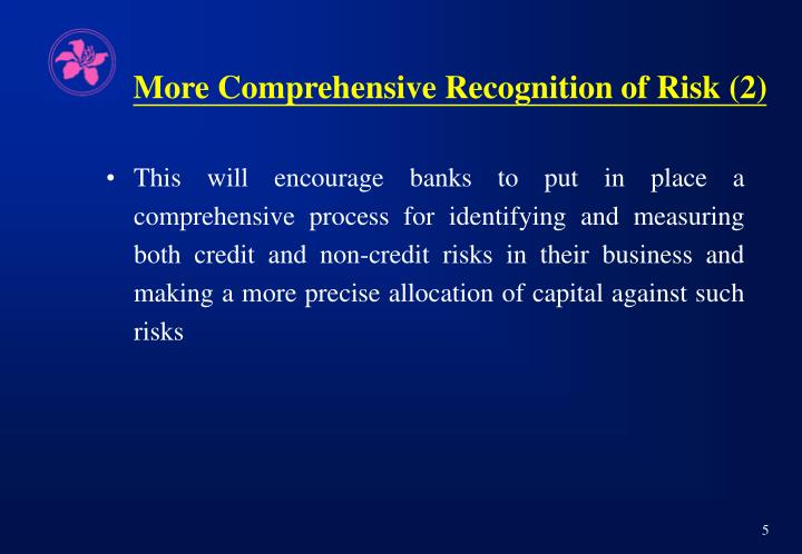 More Comprehensive Recognition of Risk (2)