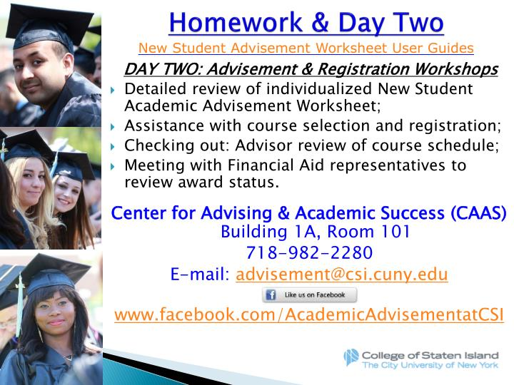 Homework & Day Two