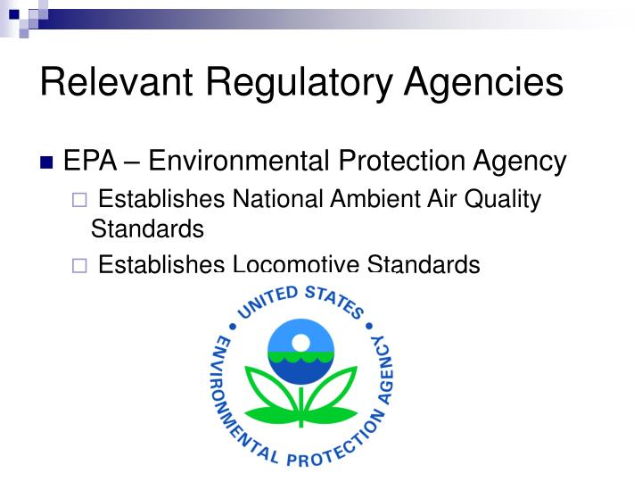 Relevant Regulatory Agencies