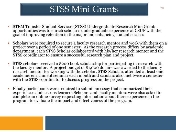 STSS Mini Grants