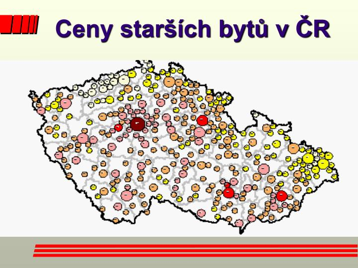 Ceny starších bytů v ČR