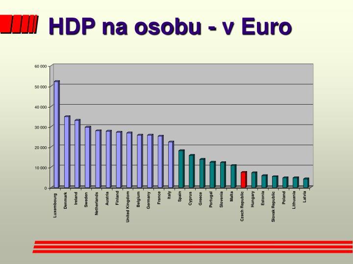 HDP na osobu - v Euro