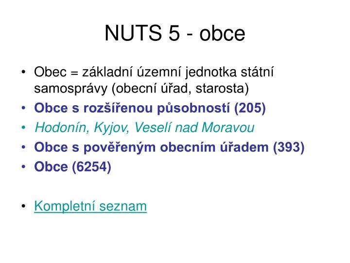 NUTS 5 - obce