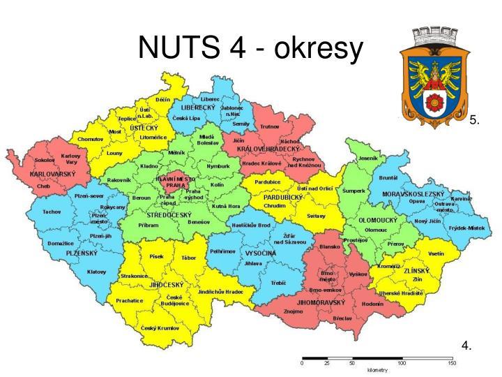 NUTS 4 - okresy