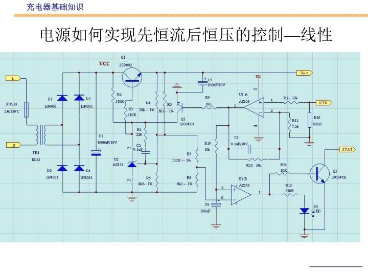 电源如何实现先恒流后恒压的控制