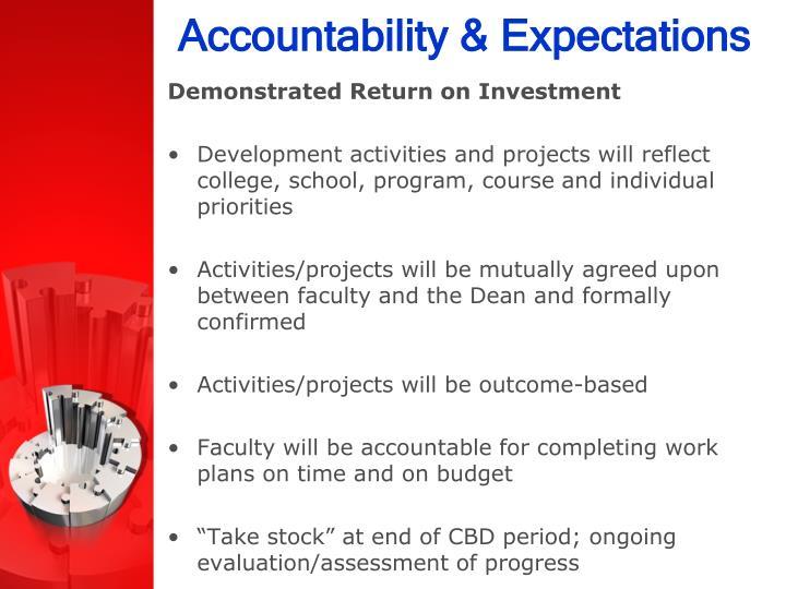 Accountability & Expectations
