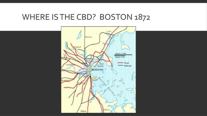 Where is the CBD?  Boston 1872