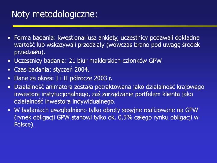 Noty metodologiczne: