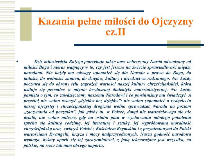 Kazania pełne miłości do Ojczyzny cz.II