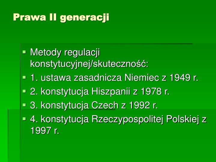 Prawa II generacji