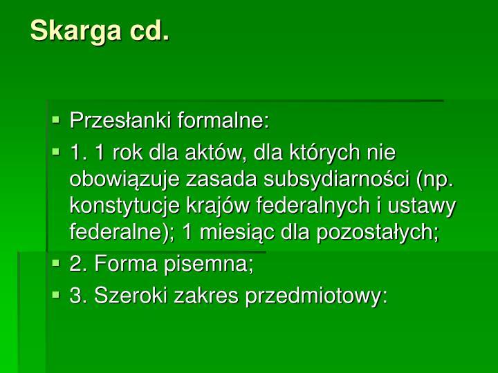 Skarga cd.