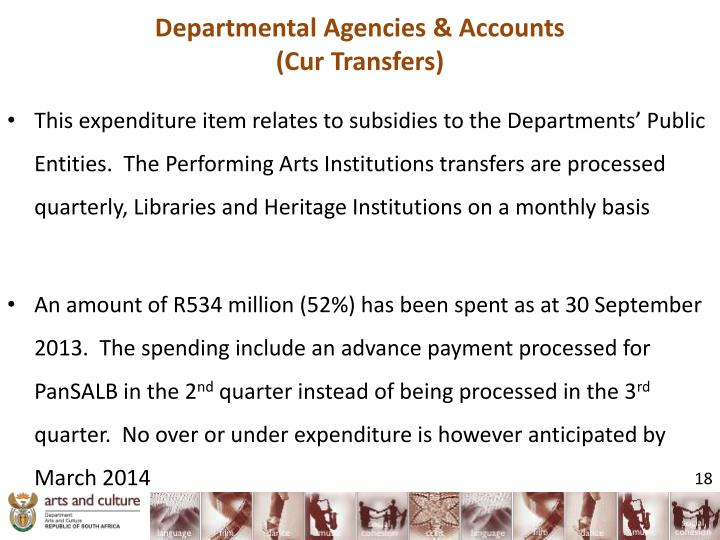 Departmental Agencies & Accounts