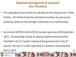 departmental agencies accounts cur transfers