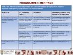 programme 5 heritage