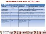 programme 6 archives and records