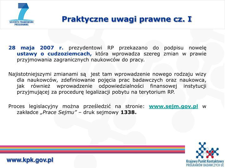 Praktyczne uwagi prawne cz. I