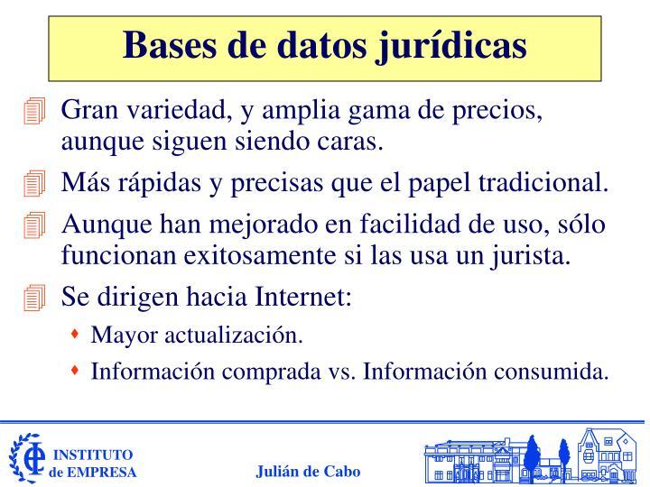 Bases de datos jurídicas