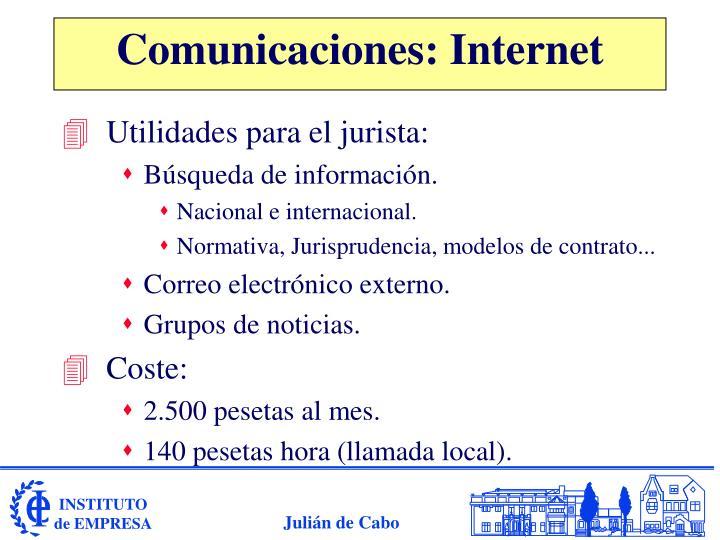 Comunicaciones: Internet